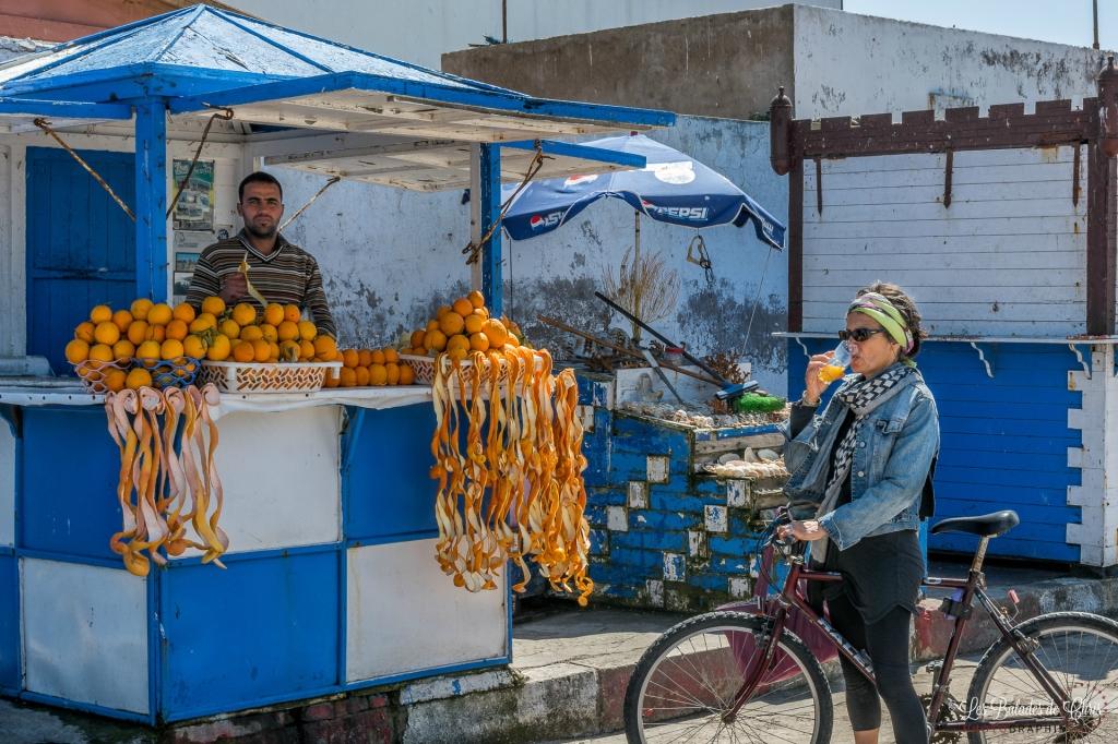 Marchand de jus d'oranges