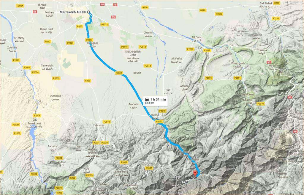 Itinéraire Marrakech - Setti Fatma